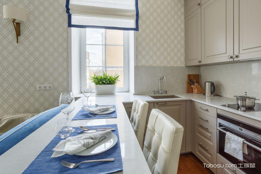 厨房白色美式风格装修图片