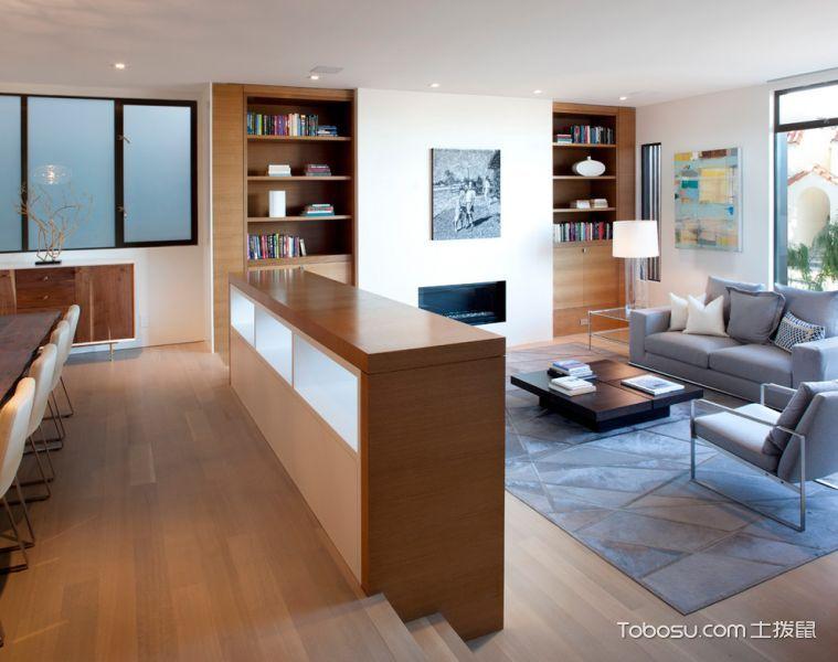 客厅灰色现代风格效果图