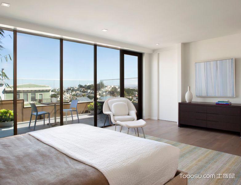 卧室白色现代风格装修设计图片