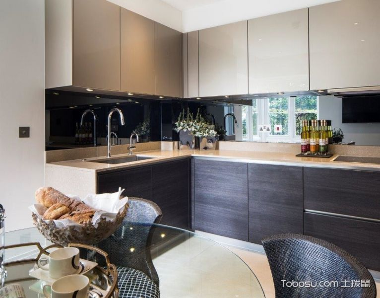 厨房黑色现代风格装潢效果图