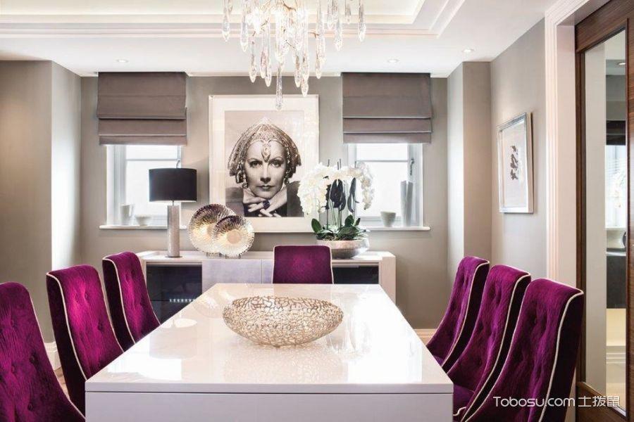 餐厅白色现代风格装修图片