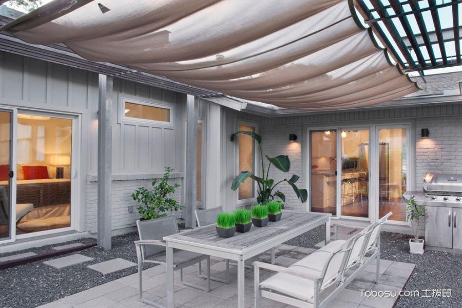 餐厅白色现代风格装潢图片