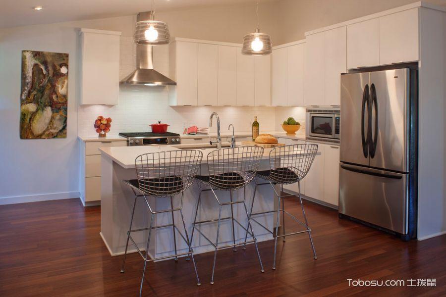厨房白色现代风格装修设计图片