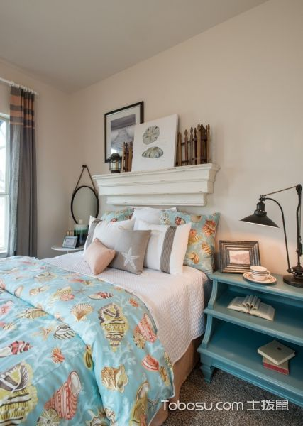 卧室蓝色混搭风格装饰效果图