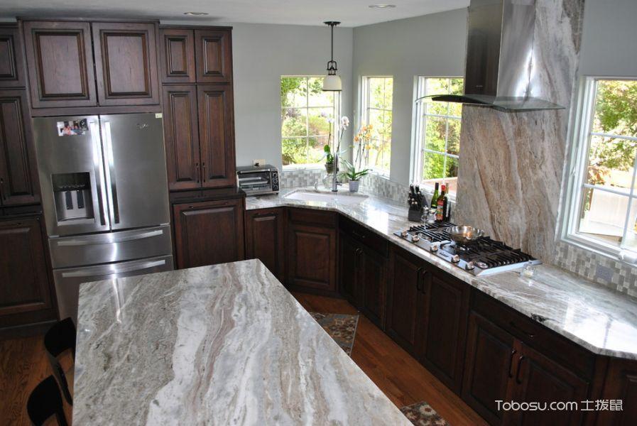 厨房混搭风格效果图大全2017图片_土拨鼠完美奢华厨房混搭风格装修设计效果图欣赏