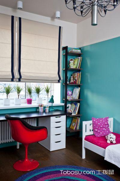 儿童房米色窗帘混搭风格装修效果图