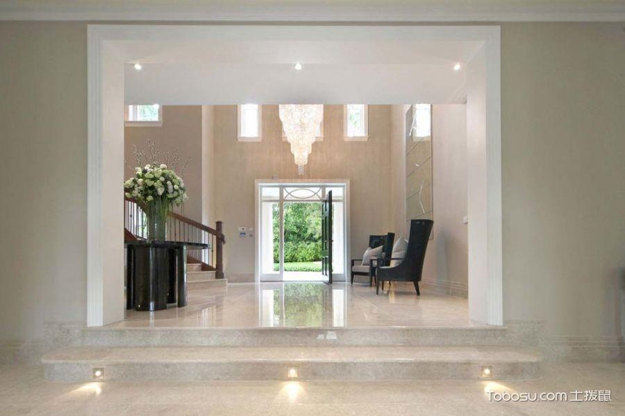 玄关白色门厅现代风格装潢图片