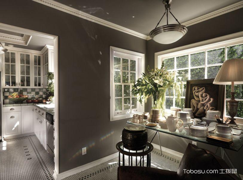 厨房灰色隔断混搭风格装修设计图片