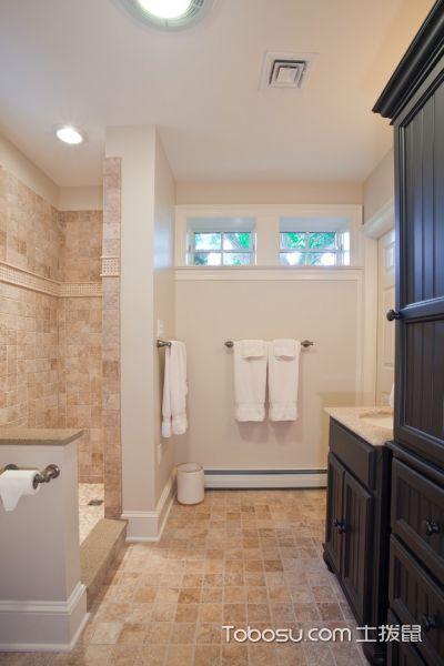 浴室黄色地砖美式风格效果图