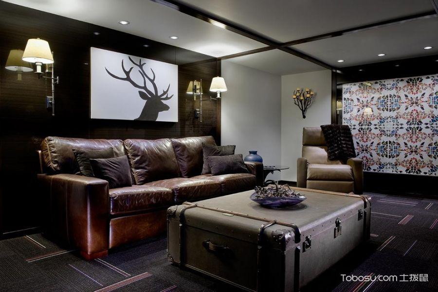 地下室黑色背景墙现代风格装饰设计图片