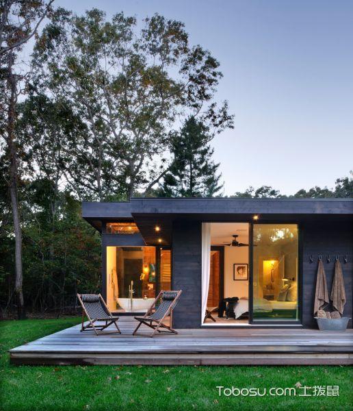 阳台咖啡色推拉门现代风格效果图