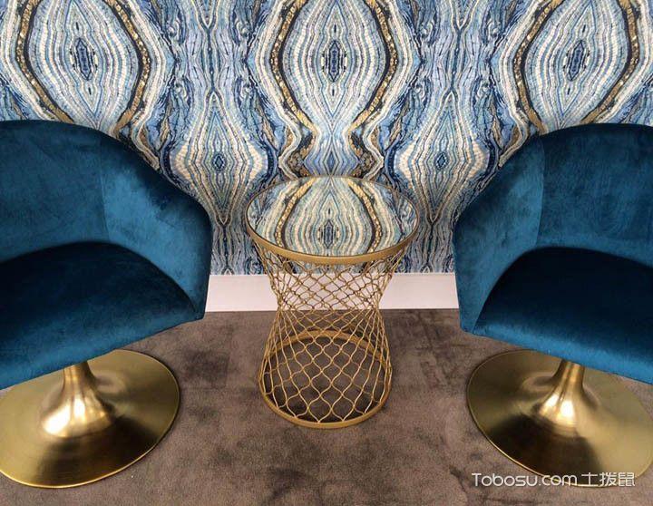 书房蓝色沙发现代风格装修图片