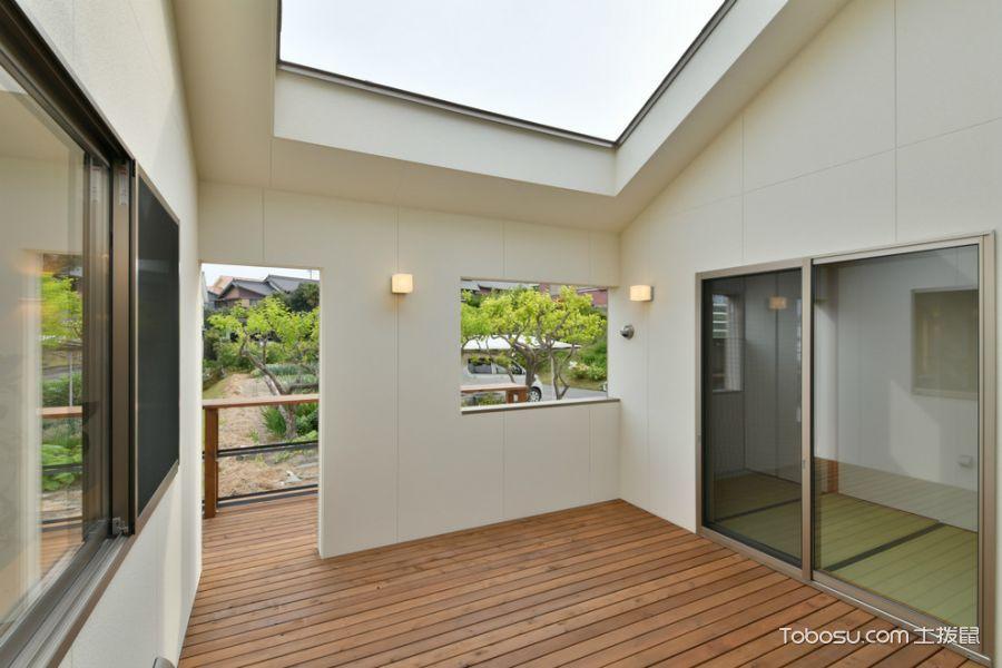 阳台白色推拉门现代风格效果图