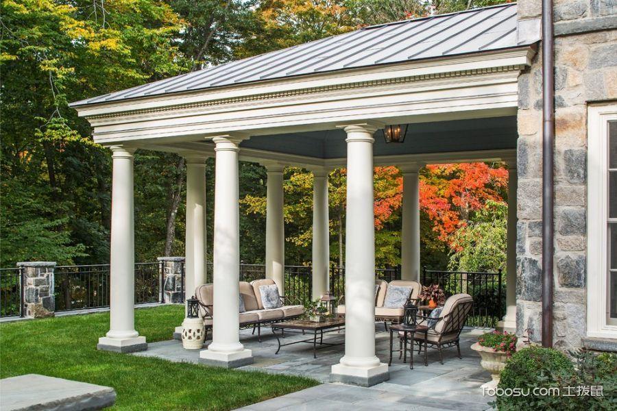 花园彩色茶几美式风格装潢图片
