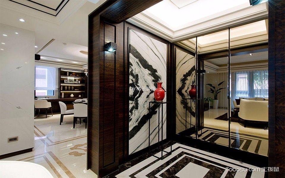 亲水湾140平米三居室新中式风格装修效果图