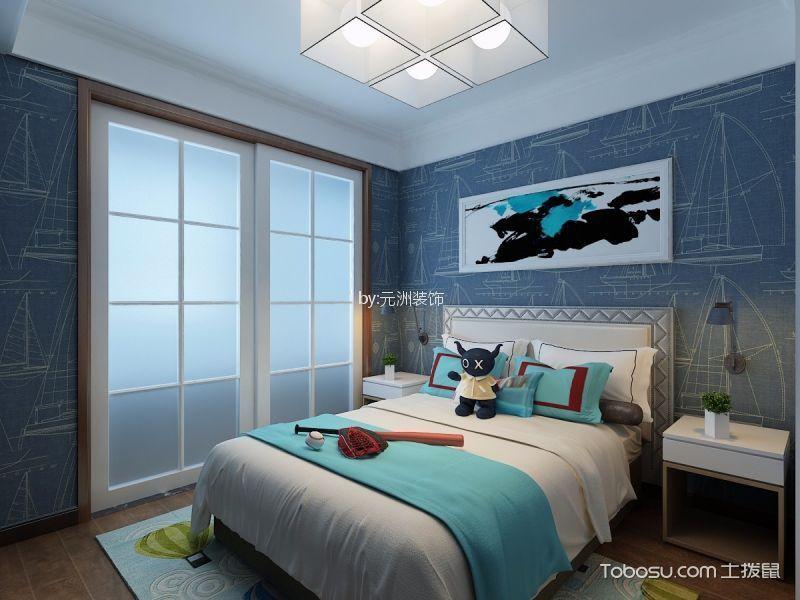 儿童房彩色床新中式风格装潢图片