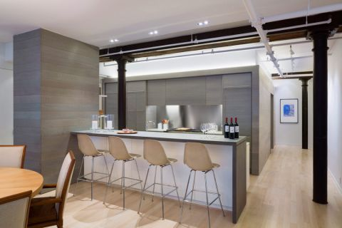 厨房现代风格效果图大全2017图片_土拨鼠精致沉稳厨房现代风格装修设计效果图欣赏