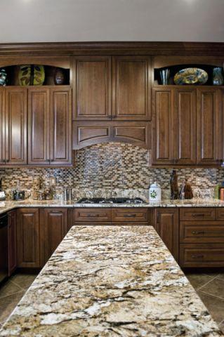 厨房美式风格效果图大全2017图片_土拨鼠奢华优雅厨房美式风格装修设计效果图欣赏