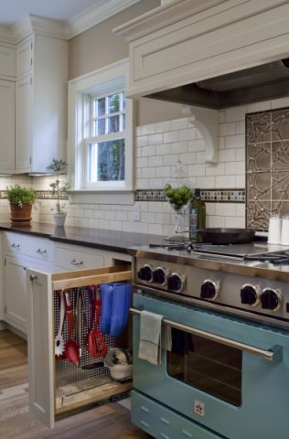 厨房美式风格效果图大全2017图片_土拨鼠典雅优雅厨房美式风格装修设计效果图欣赏