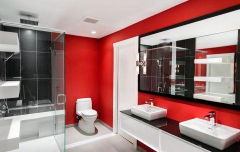 浴室现代风格效果图大全2017图片_土拨鼠大气质感浴室现代风格装修设计效果图欣赏