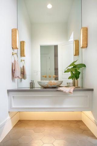 卫生间现代风格效果图大全2017图片_土拨鼠美感质朴卫生间现代风格装修设计效果图欣赏