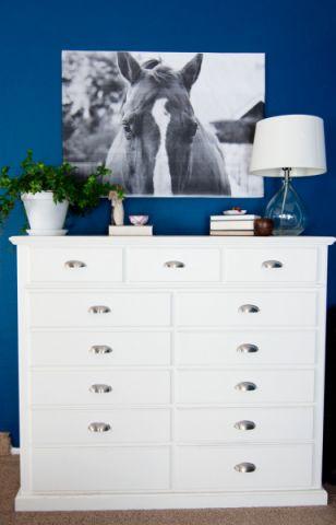 卧室蓝色细节混搭风格装饰设计图片