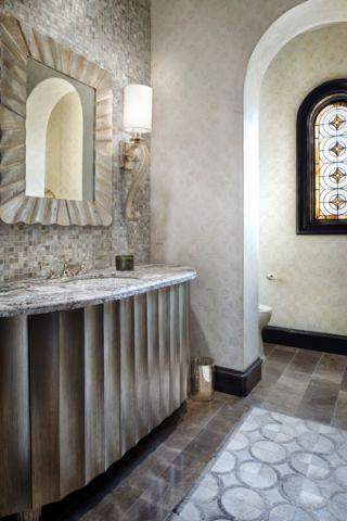 卫生间灰色地中海风格装潢效果图