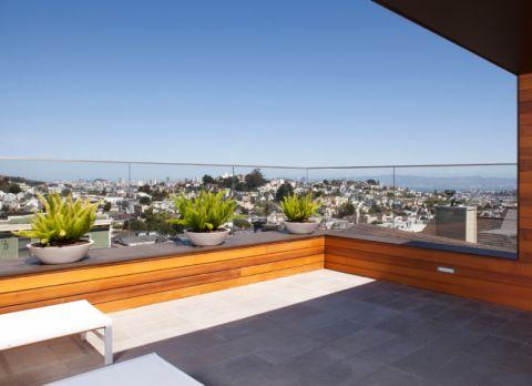 阳台绿色现代风格装潢效果图