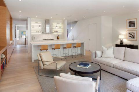 客厅白色现代风格装饰效果图