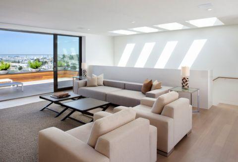 客厅黑色现代风格装饰图片