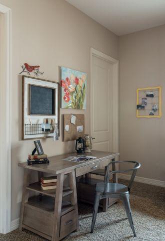 书房灰色混搭风格装潢设计图片
