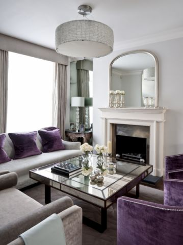客厅白色美式风格装饰设计图片