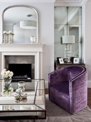 客厅紫色美式风格装潢设计图片