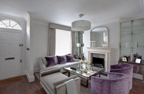 客厅白色美式风格效果图