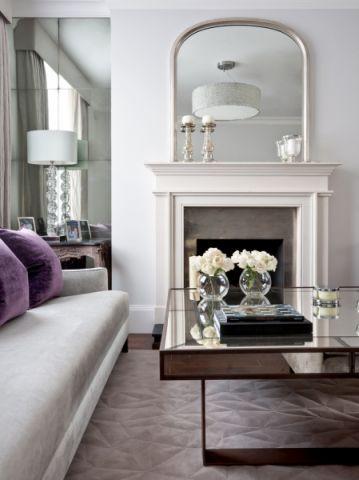 客厅咖啡色美式风格装修效果图