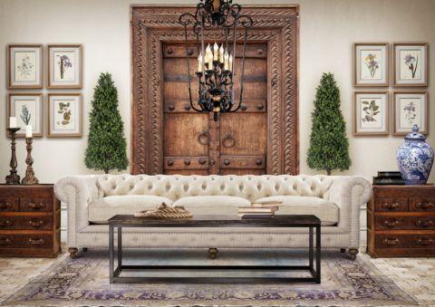 客厅白色混搭风格装饰图片