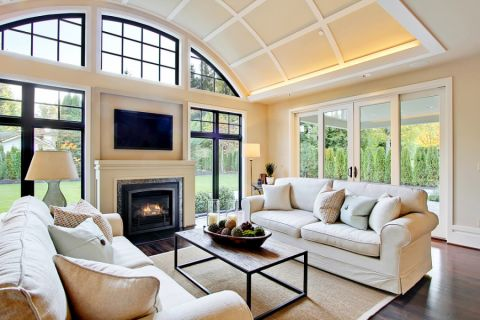 客厅沙发简欧风格装饰效果图