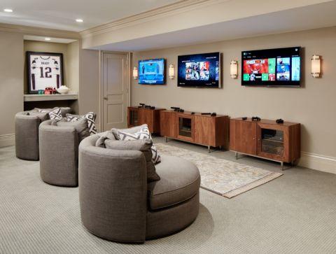 地下室沙发美式风格装潢效果图