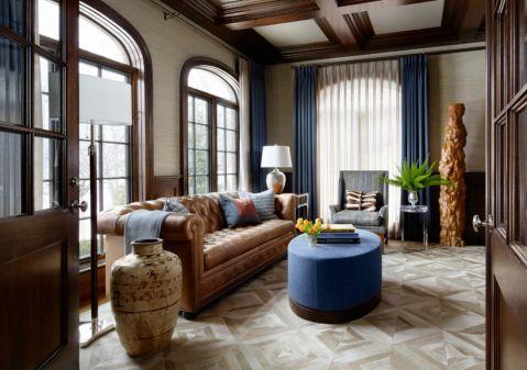 客厅窗帘美式风格效果图
