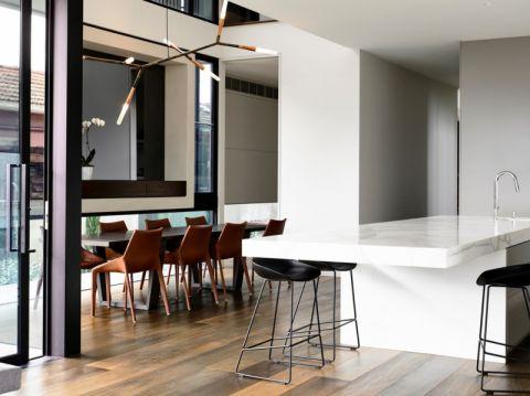 厨房现代风格效果图大全2017图片_土拨鼠干净奢华厨房现代风格装修设计效果图欣赏