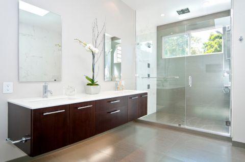 浴室现代风格效果图大全2017图片_土拨鼠休闲质朴浴室现代风格装修设计效果图欣赏