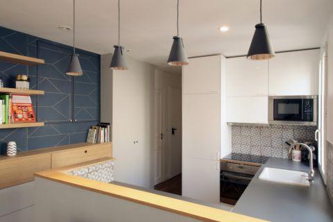 厨房现代简约风格效果图大全2017图片_土拨鼠清新创意厨房现代简约风格装修设计效果图欣赏