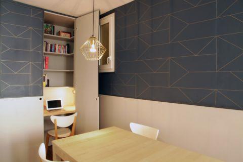 书房书桌现代简约风格装修设计图片