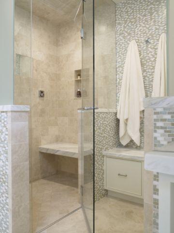 浴室隔断美式风格装潢设计图片