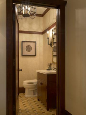 卫生间洗漱台美式风格装潢效果图