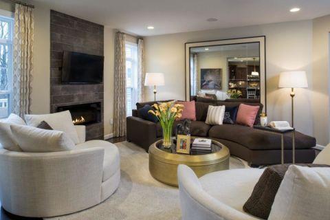 客厅茶几现代风格装修图片