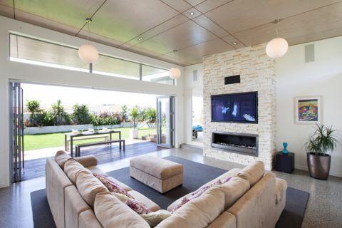 客厅现代风格效果图大全2017图片_土拨鼠古朴自然客厅现代风格装修设计效果图欣赏
