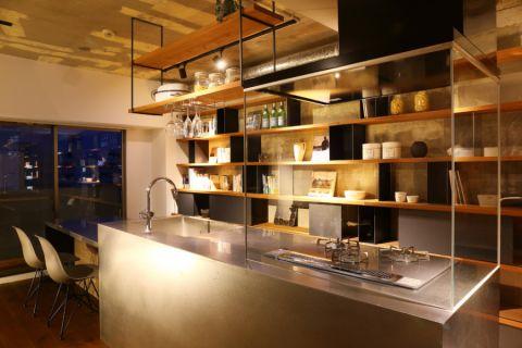厨房现代风格效果图大全2017图片_土拨鼠极致写意厨房现代风格装修设计效果图欣赏