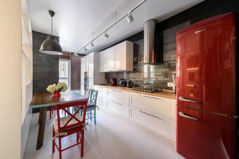 厨房现代风格效果图大全2017图片_土拨鼠时尚摩登厨房现代风格装修设计效果图欣赏