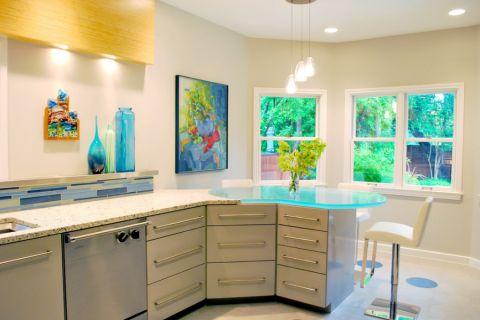 厨房现代风格效果图大全2017图片_土拨鼠休闲休闲厨房现代风格装修设计效果图欣赏
